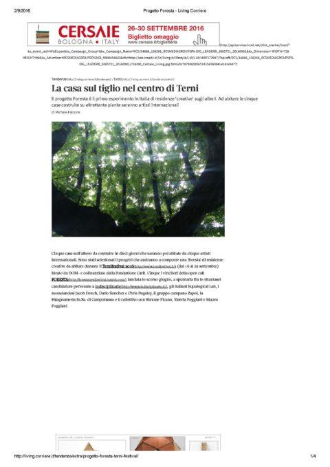 Progetto Foresta – Living Corriere_Pagina_1