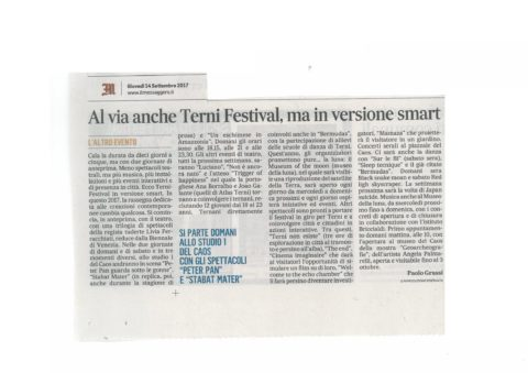 Terni Festival 2017 – messaggero 14 settembre