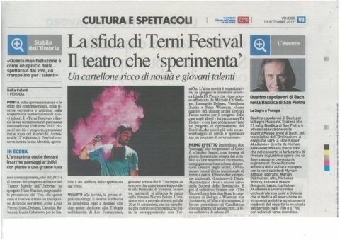 Terni Festival 2017 – nazione 15 settembre