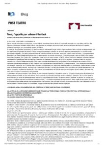 Terni, l'appello per salvare il festival - Post teatro - Blog - Repubblica.it
